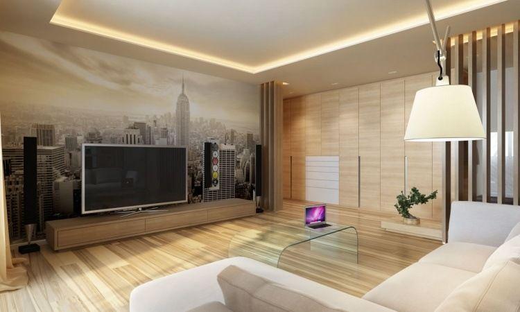 plafond led salon