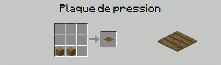 plaque de pression craft