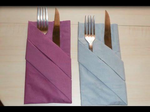 pliage de serviette pour couvert