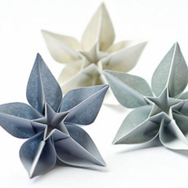 pliage papier fleur