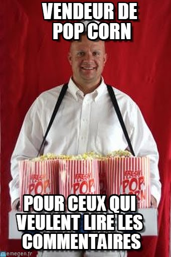 pop corn commentaire