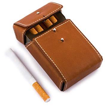porte paquet cigarette cuir