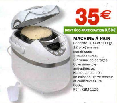prix machine à pain