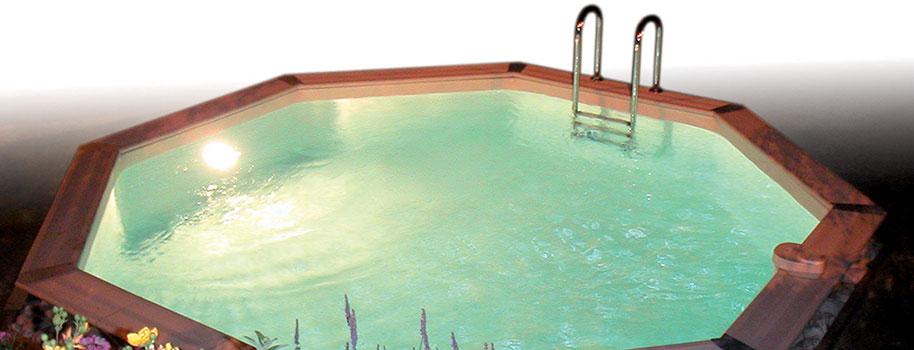 projecteur piscine bois hors sol