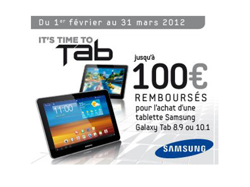 promo tablettes samsung