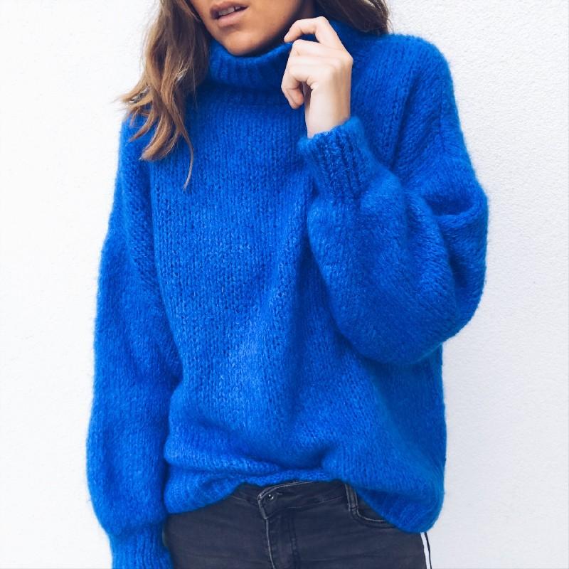 pull bleu electrique femme