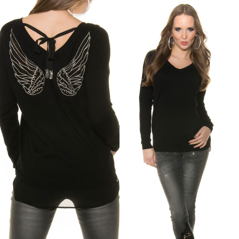 pull femme ailes d anges