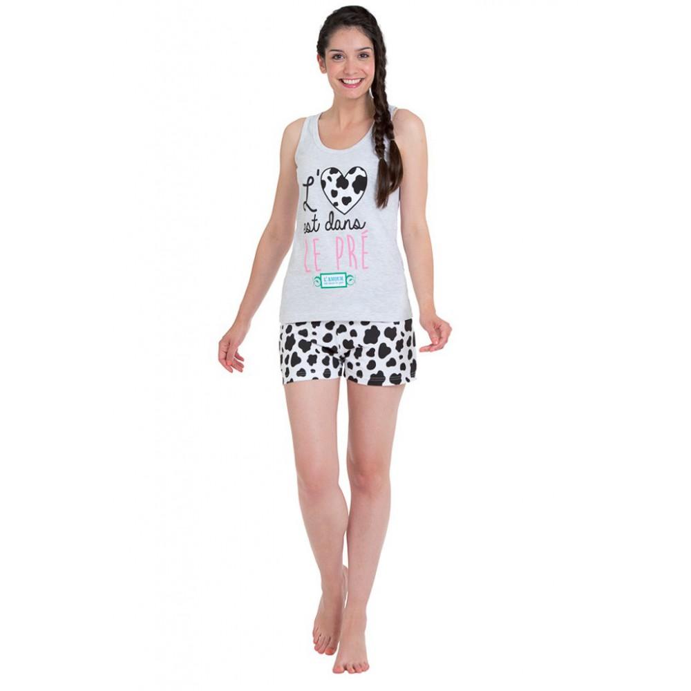 pyjama court femme