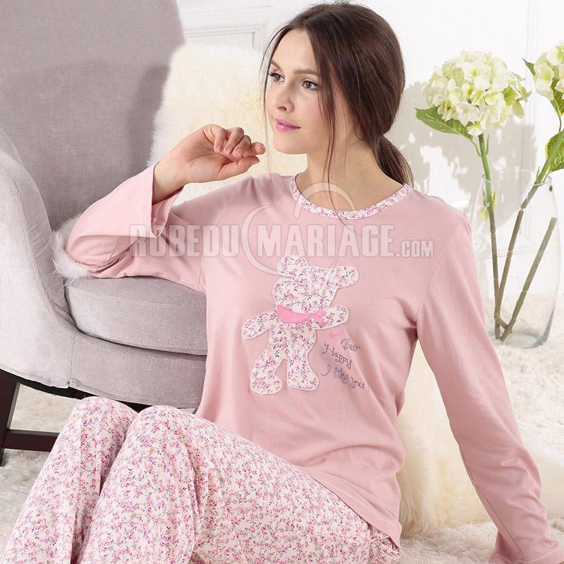 pyjama femme hiver pas cher