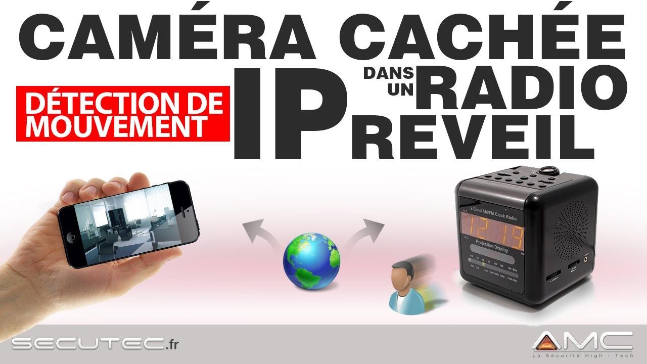radio reveil camera espion wifi