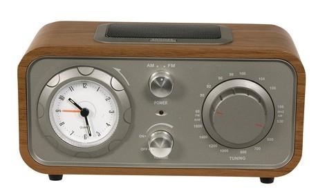 radio réveil vintage design