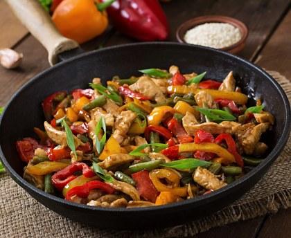recette avec wok