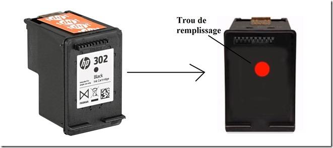 recharger cartouche hp 302