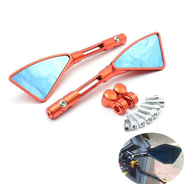 retroviseur moto orange