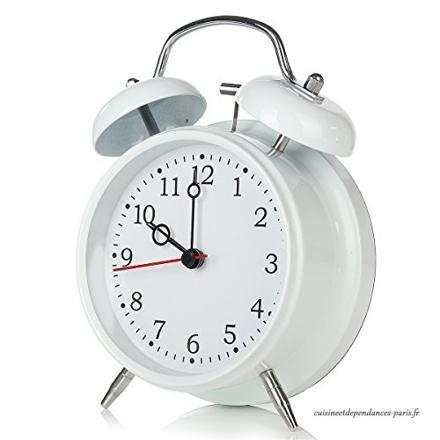 réveil matin mécanique silencieux