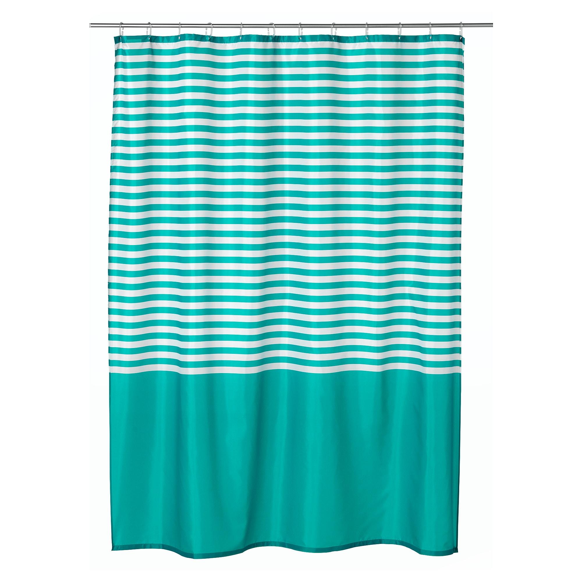 rideau de douche turquoise