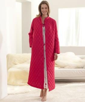 robe de chambre boutonnée femme