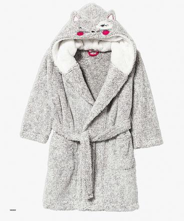robe de chambre fille avec capuche