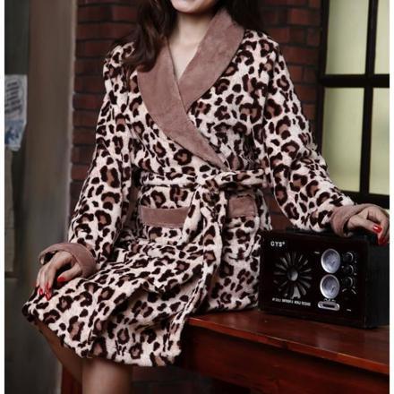 robe de chambre leopard femme