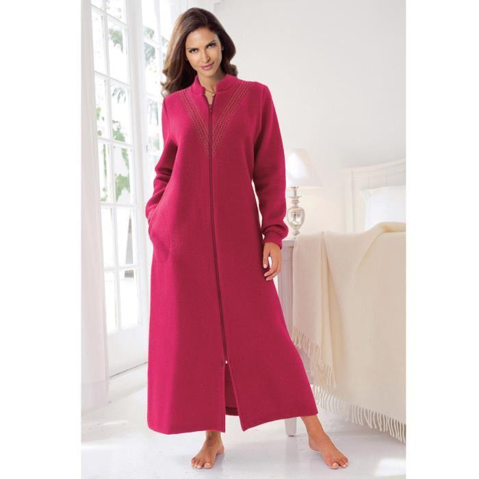 robe de chambre polaire longue femme