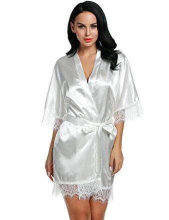robe de chambre satin femme
