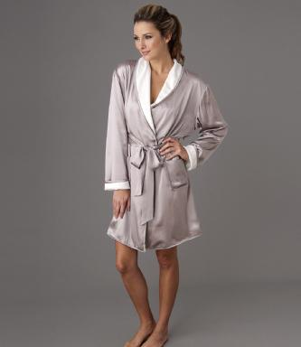 robe de chambre soie femme