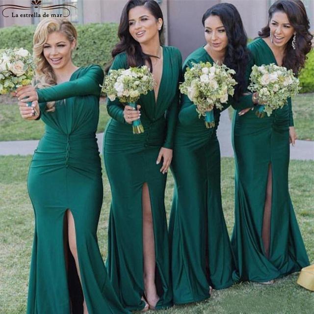 robe demoiselle d\'honneur vert