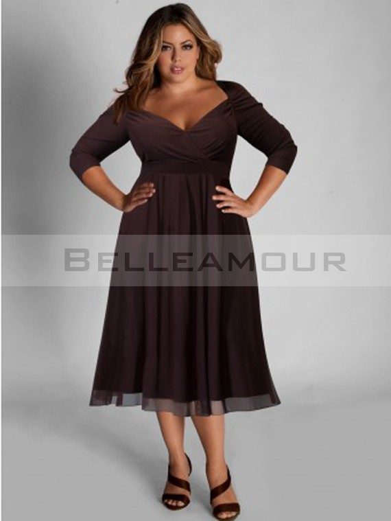 robe manche 3 4 grande taille