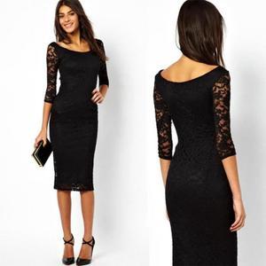 robe noir dentelle pas cher