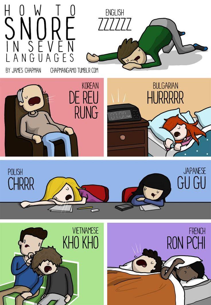 ronflement en anglais