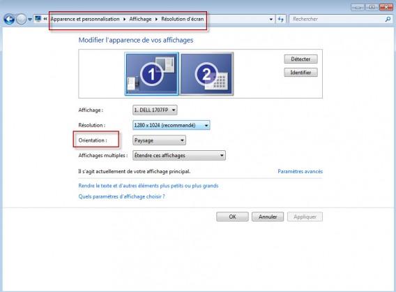 rotation ecran pc portable windows 8