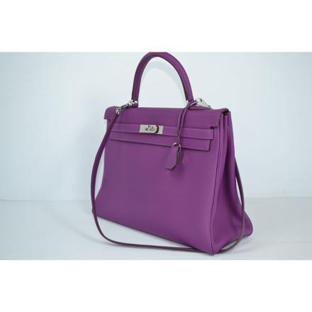 sac a main violet cuir
