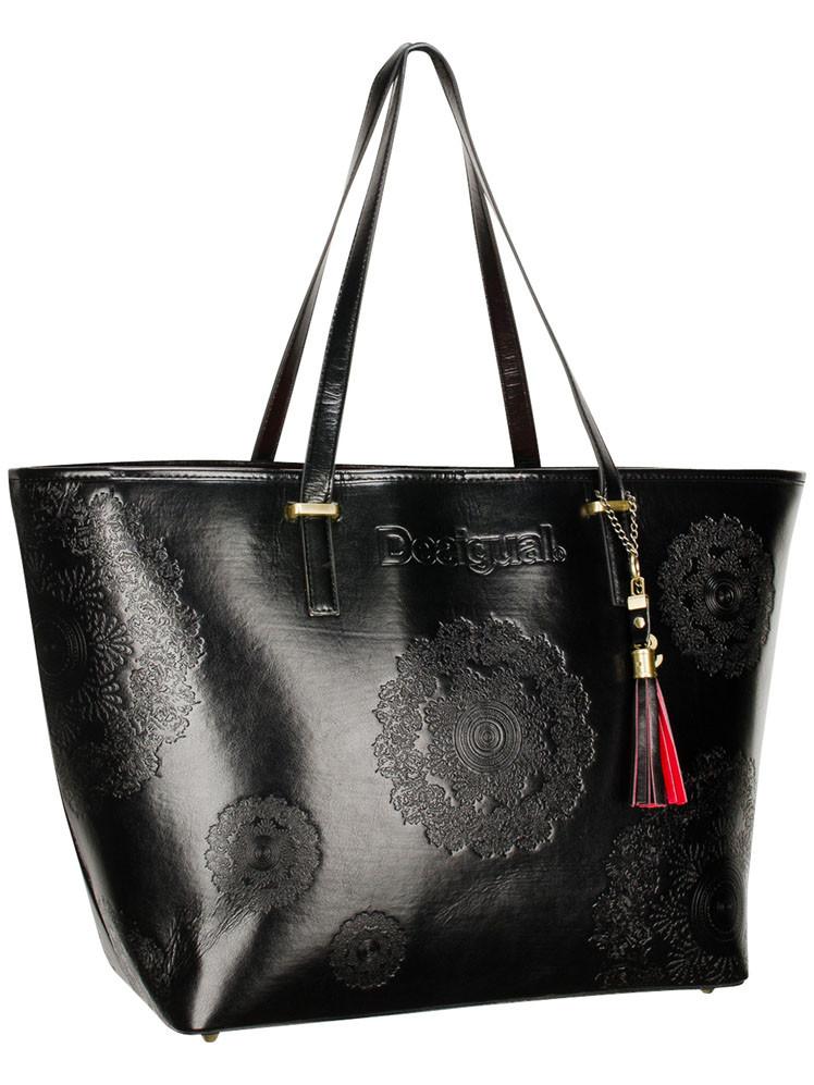 sac desigual cuir noir