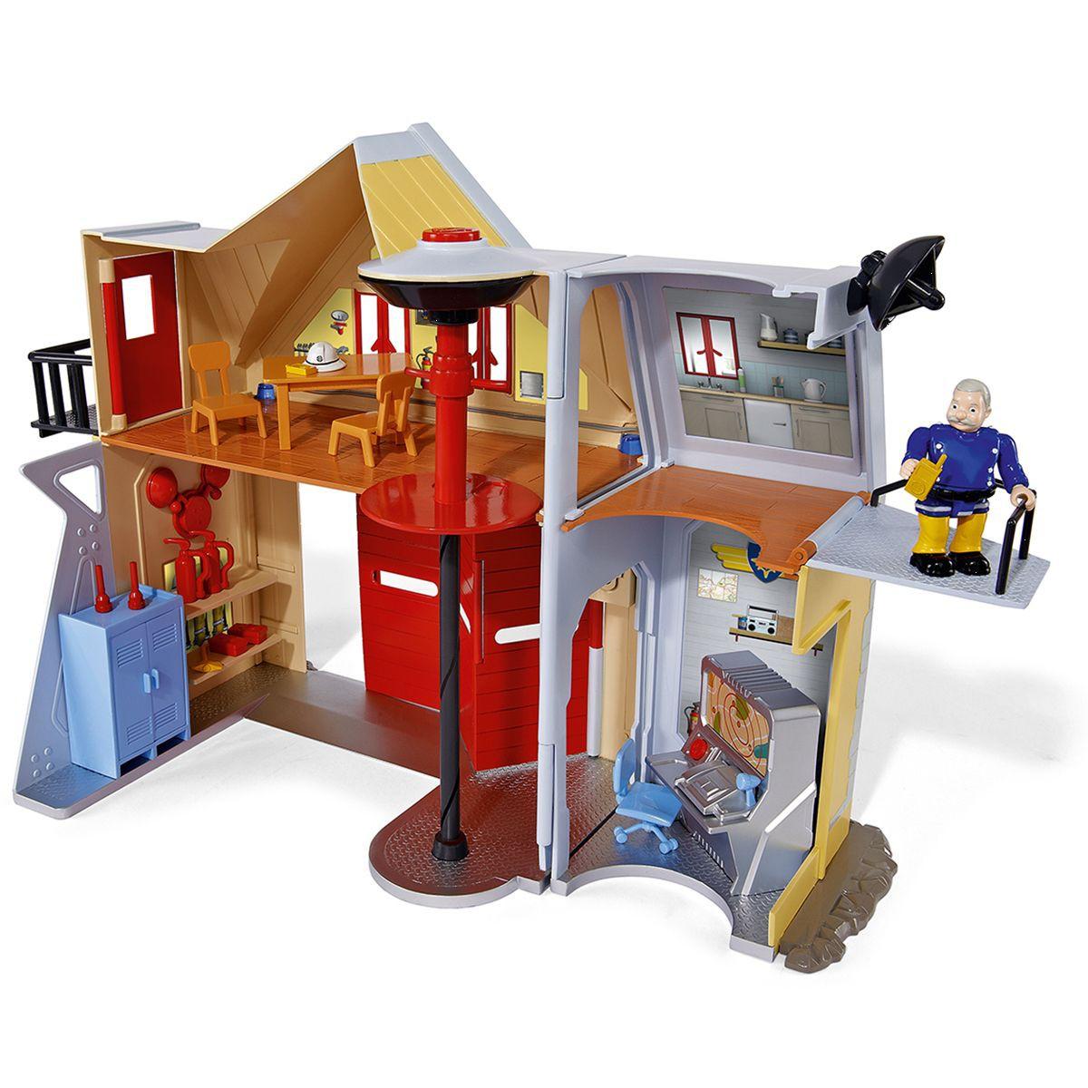 sam le pompier jouet caserne