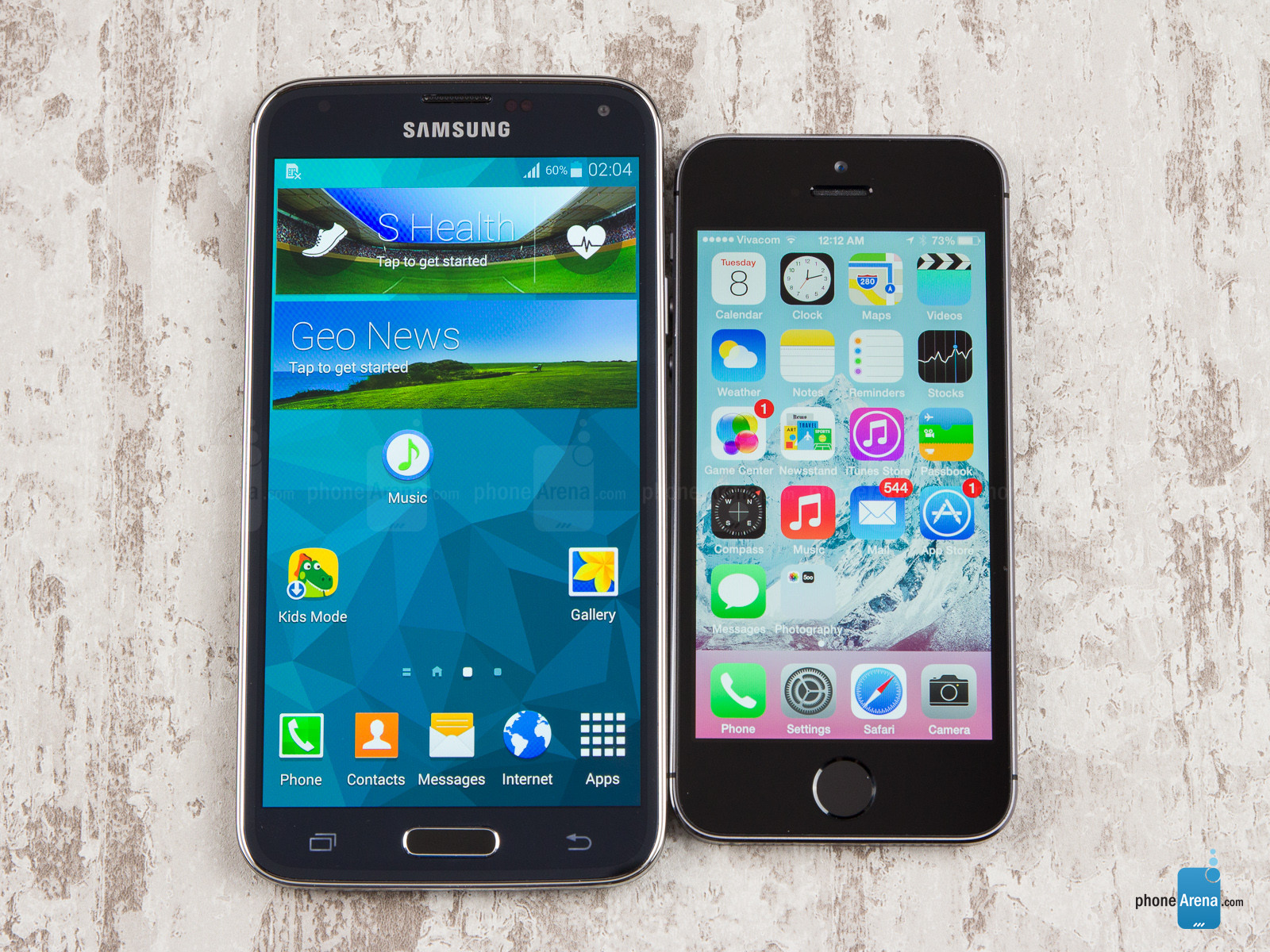 samsung s5 et iphone 5s