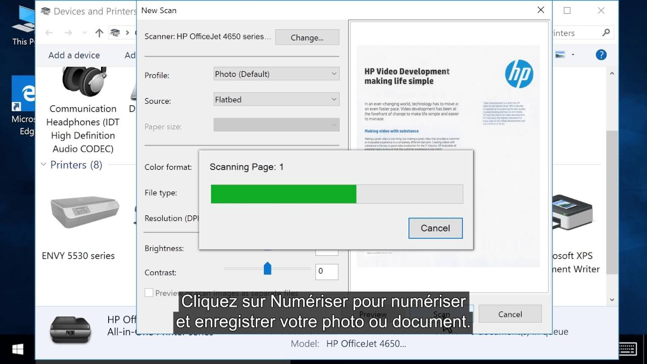 scanner un document avec windows 10