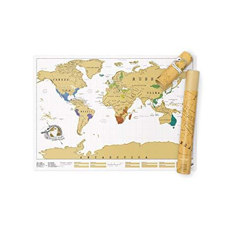 scratch map amazon