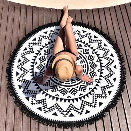 serviette de plage ronde mandala