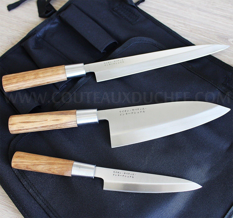 set de 3 couteaux japonais sabatier