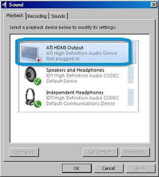 son sortie hdmi windows 10