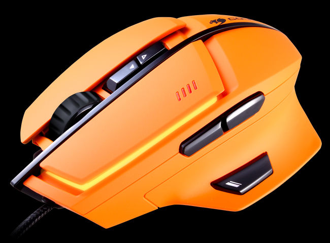 souris gamer orange