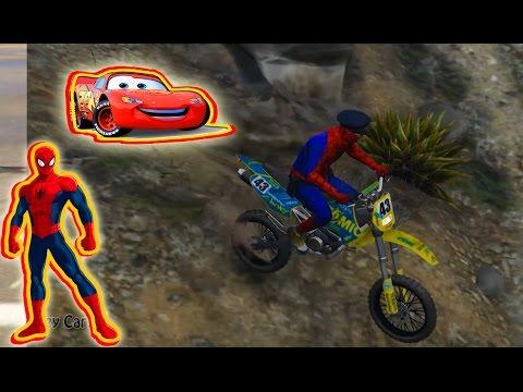 spiderman moto cross