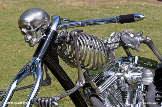 squelette moto
