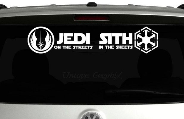 sticker star wars voiture
