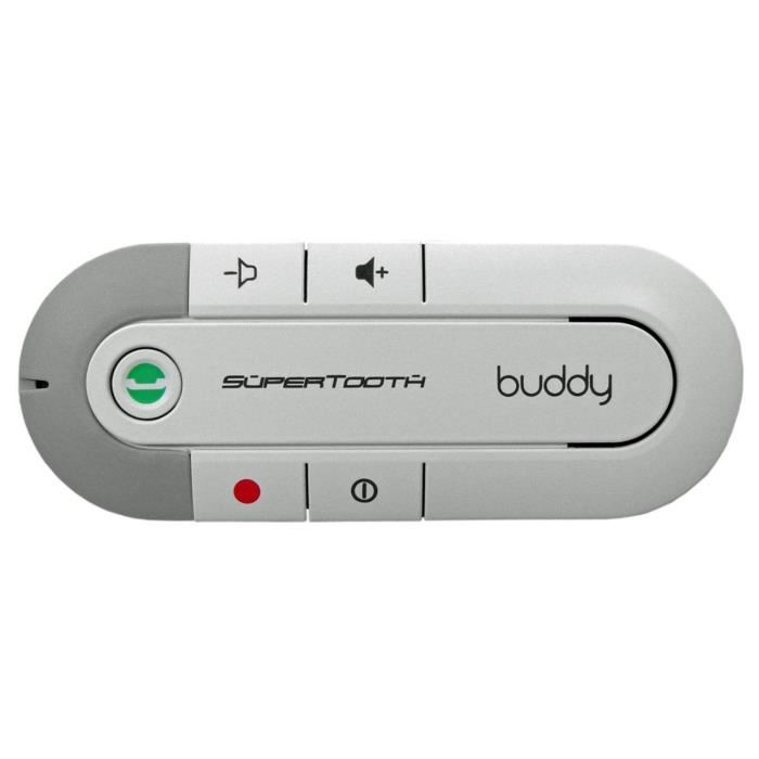 supertooth kit voiture mains libres bleutooth pour pare soleil buddy