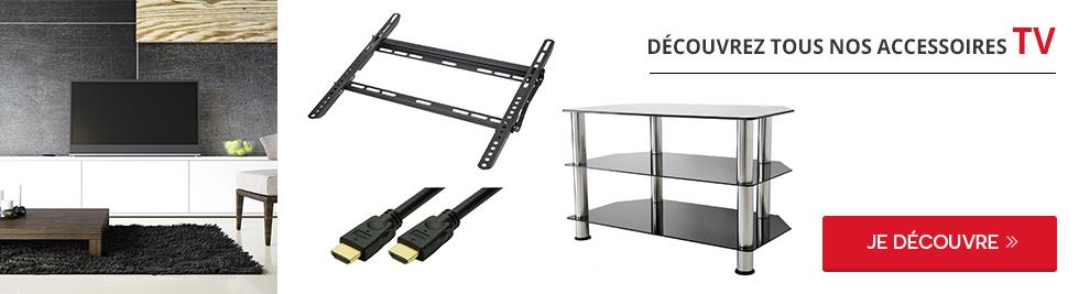 support tv plafond darty