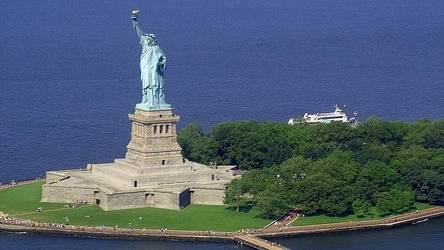 sur la statue de la liberté