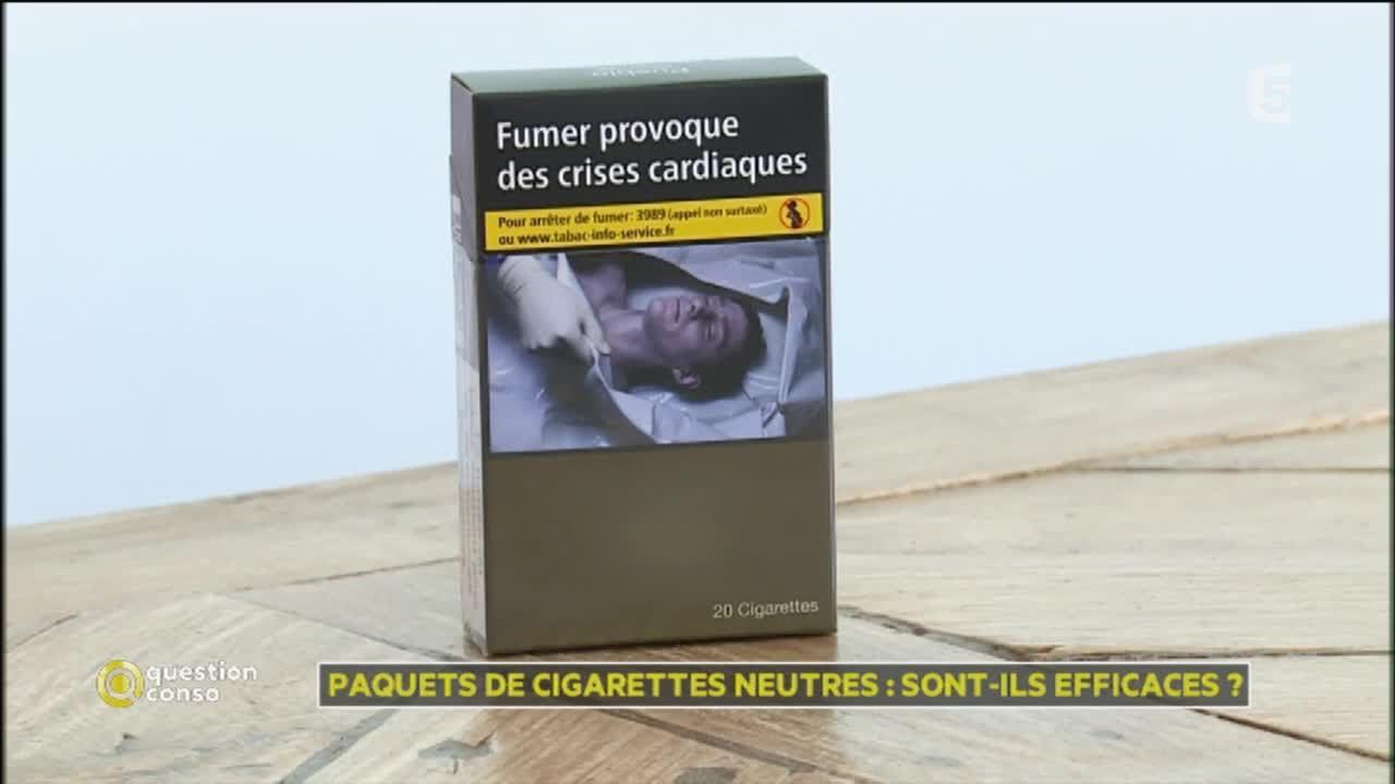 sur paquet cigarette