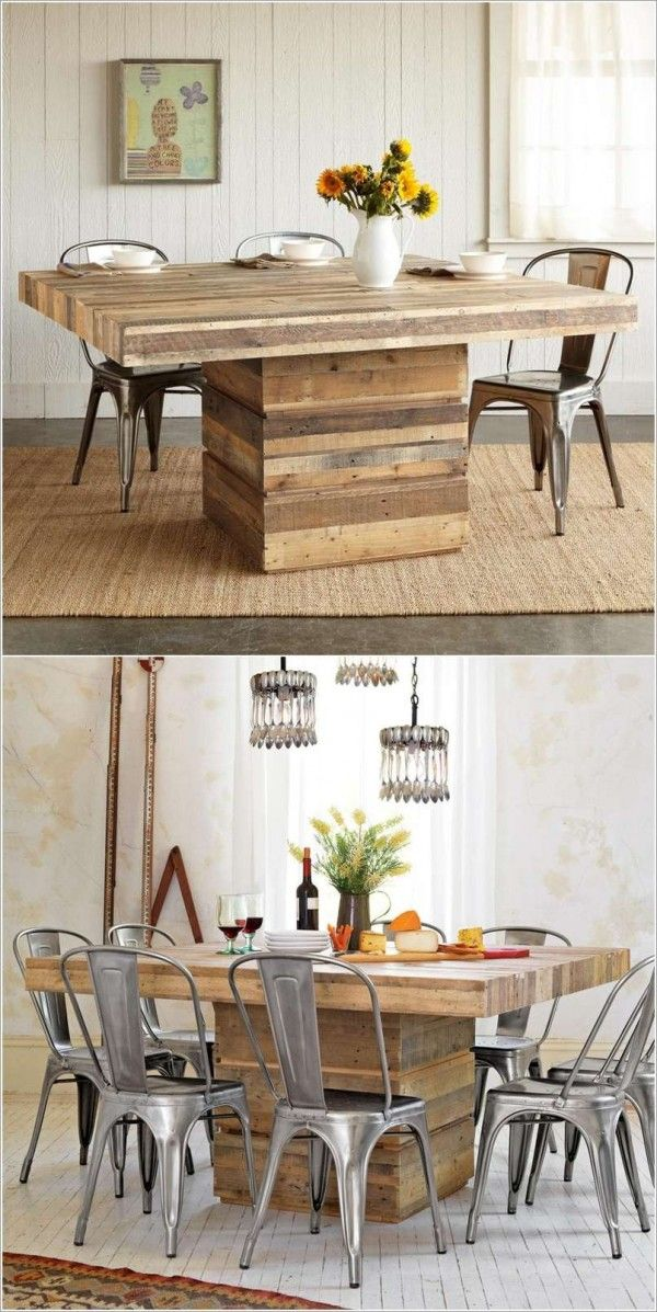 table a manger en palette