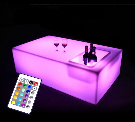 table basse led sans fil